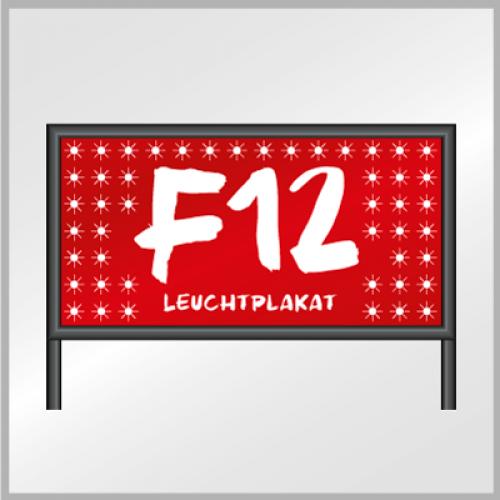 F12 Leuchtplakat (Whiteback)