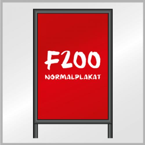 F200 Normalplakat (Blueback)