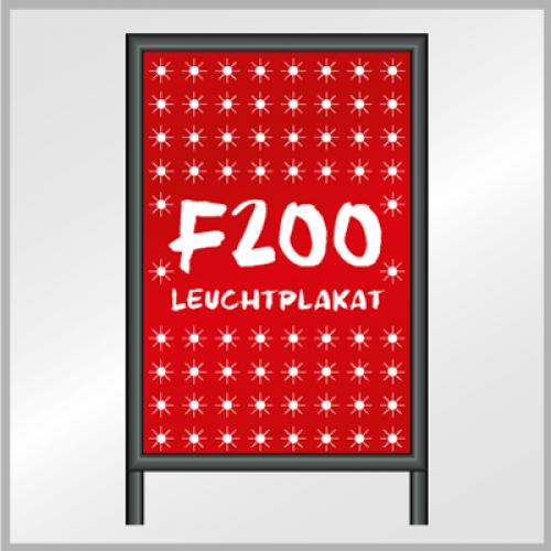F200 Leuchtplakat (Whiteback)